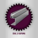 Özaslan Aluminyum ve Mobilya Aksesuarları Mobilya Profilleri Oval U Kapama